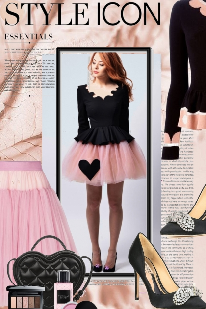 Style Icon in Black and Pink