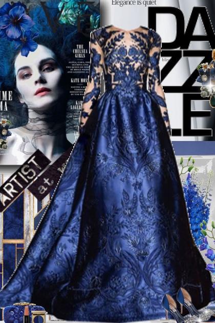 Elegance is Quiet in Paris Blue- Kreacja