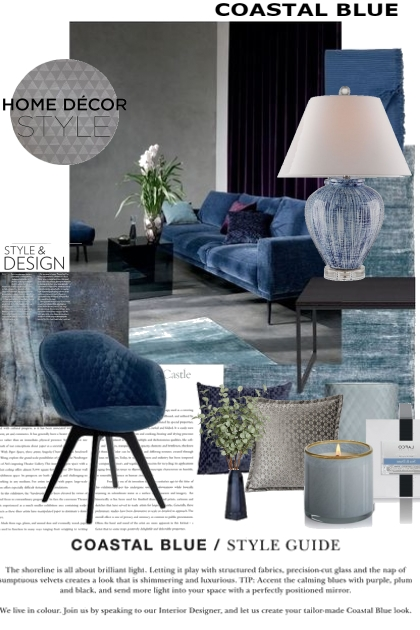 Coastal Blue Home Decor Style- 搭配