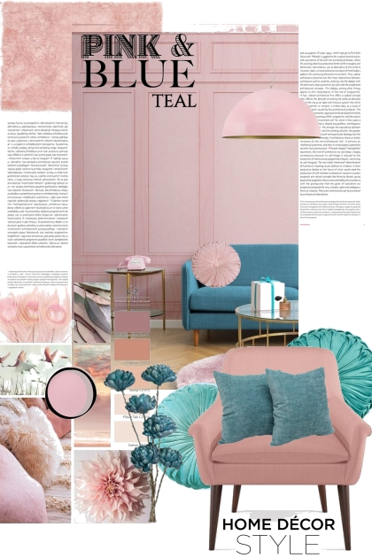 PINK AND BLUE TEAL