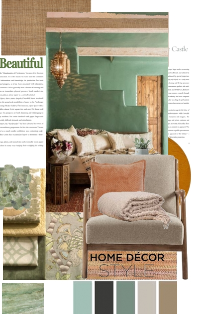 Green and Taupe Home Decor Style
