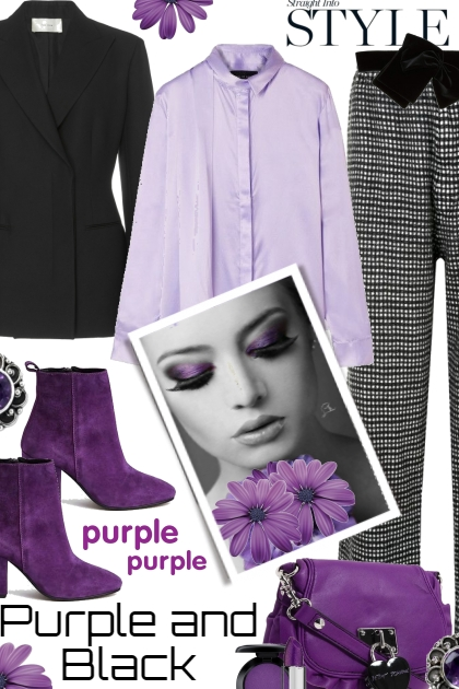Purple Purple Purple and Black