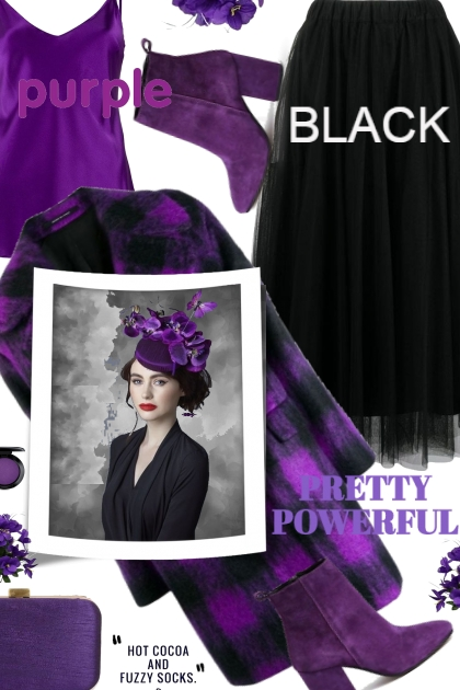 Purple and Black Trend