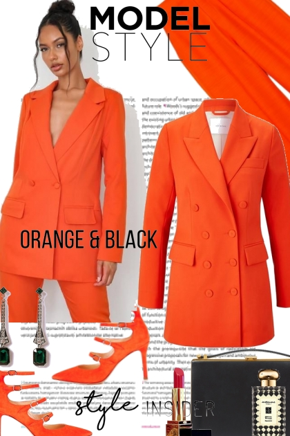 Model Style Orange with Black