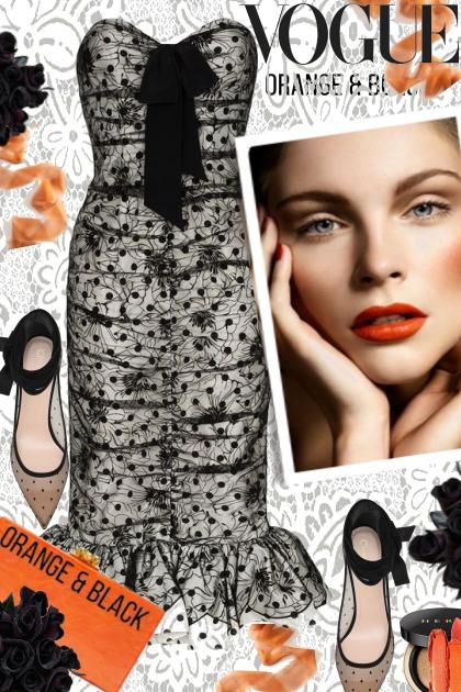 Vogue in Orange and Black