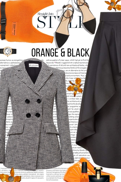 Orange and Black Trend