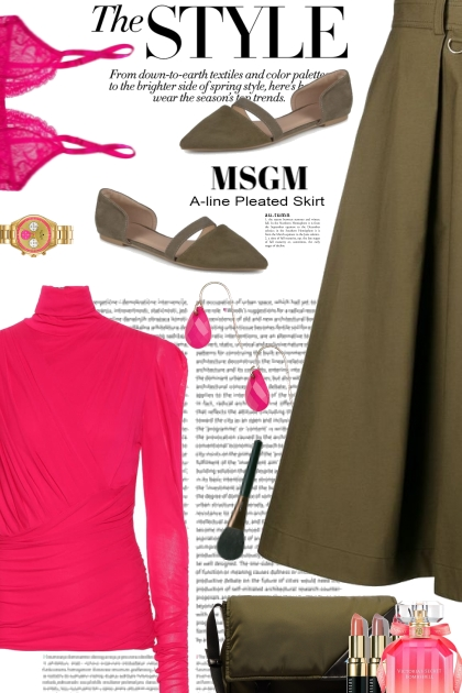 The Style with Pink and Green