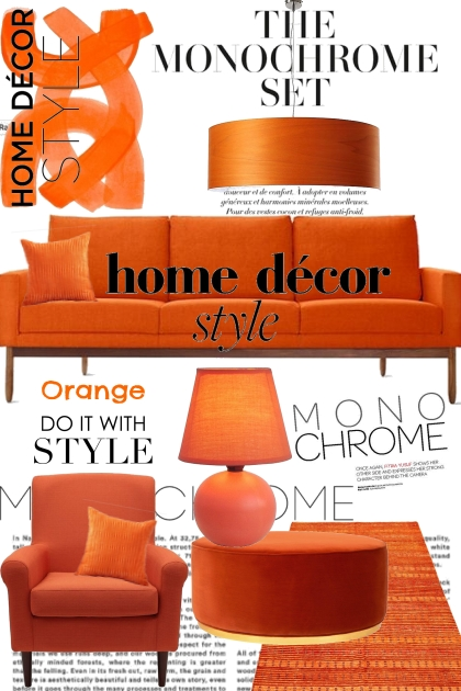 The Monochrome Orange Set