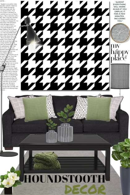 Houndstooth Decor- Fashion set
