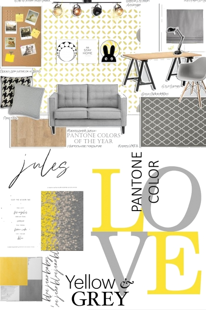Pantone Yellow and Gray