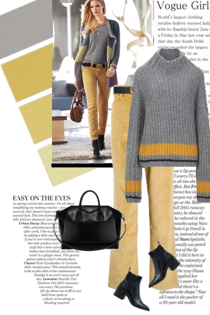 Vogue Girl in Yellow and Gray
