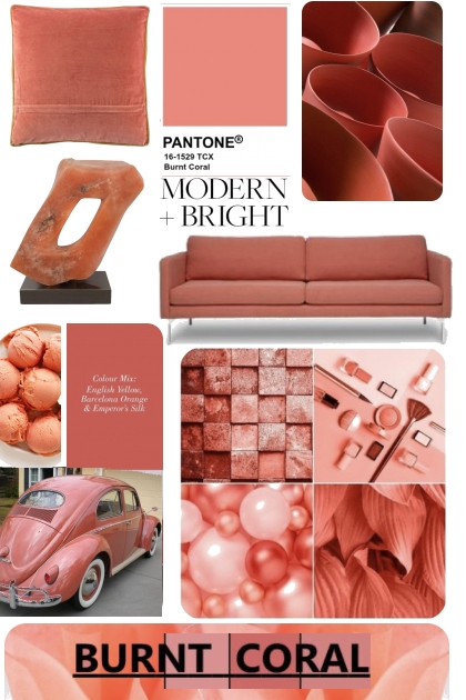 Pantone Burnt Coral Mood Board