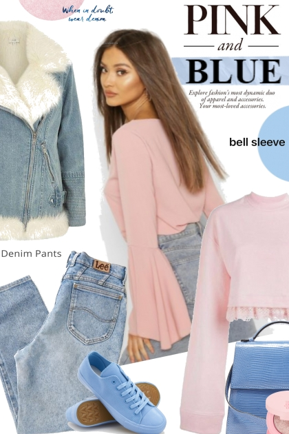 Pink Top and  Blue Denim
