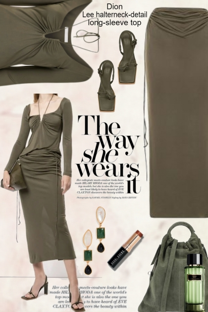 The Way She Wears It...Halter Neck Top- Fashion set