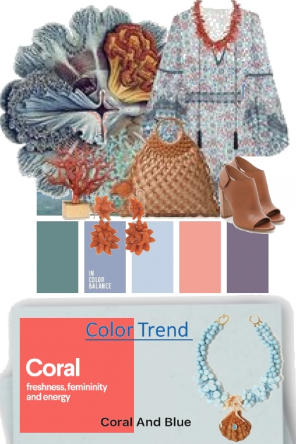 In Color Balance Coral and Blue
