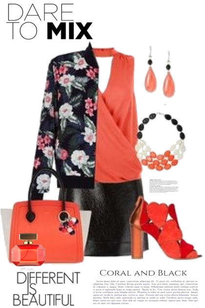 Dare to Mix Coral and Black