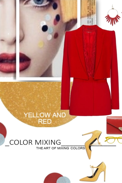 Yellow and Red Color Mixing