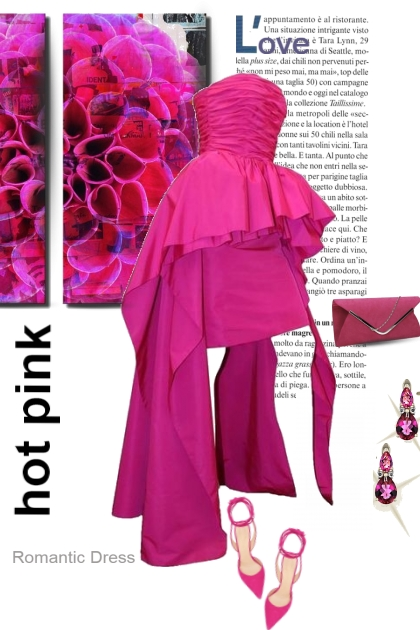 Romantic Dress in Hot Pink