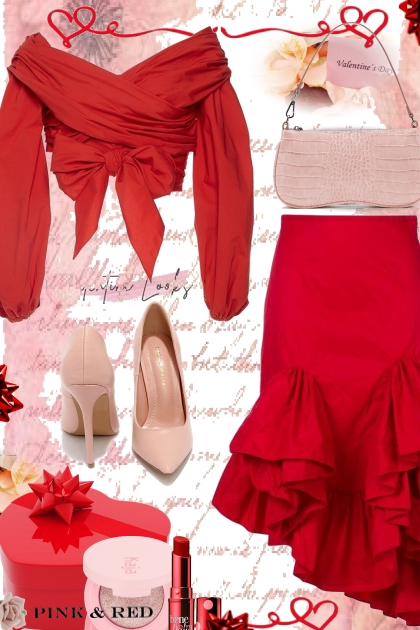 Pink and Red Valentine Looks