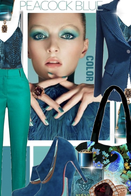Peacock Blue Color Trend