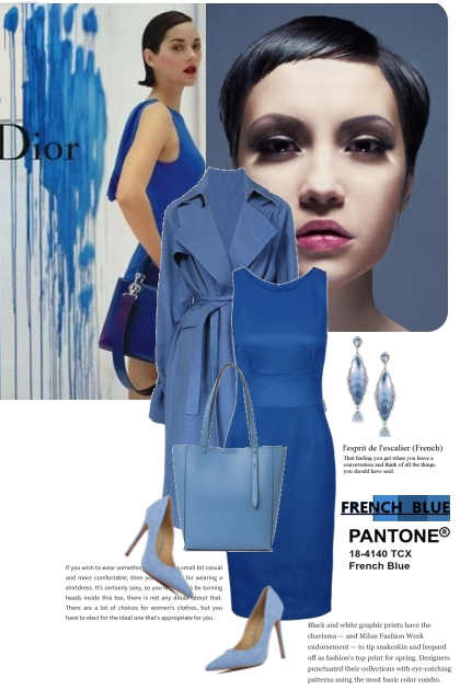 Pantone French Blue and Dior