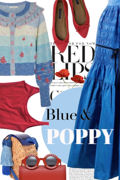 Blue and Poppy