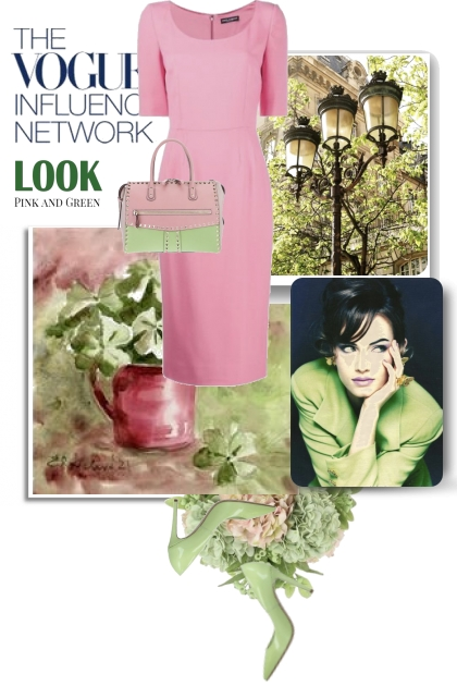 The Vogue Look Pink and Green