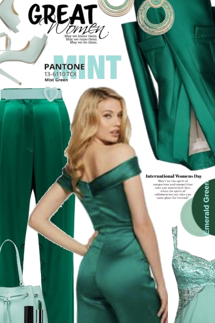 Great Womens Day in Mint and Green