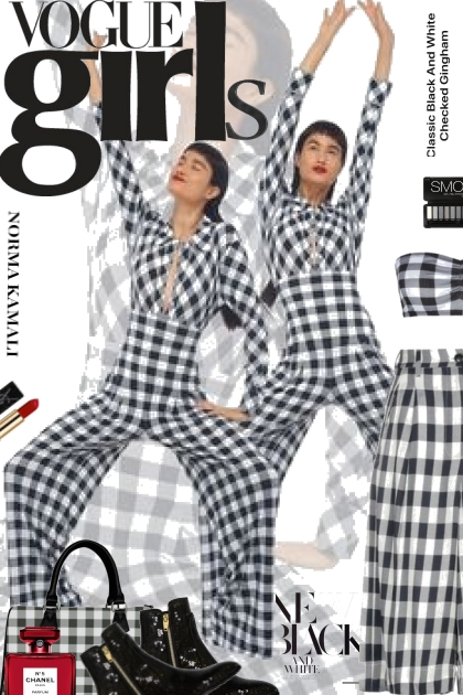Vogue Girls New Black and White
