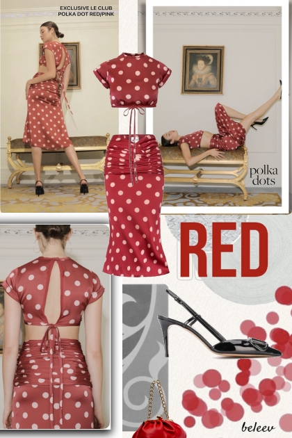 Red with Polka Dots