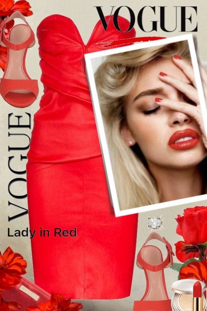 Vogue Lady in Red