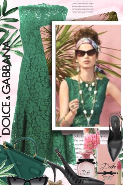 Dolce and Gabbana in Green