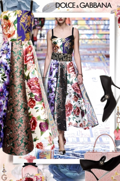 Dolce and Gabbana in Flowers