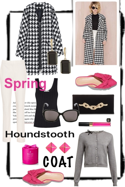 Spring Houndstooth Coat