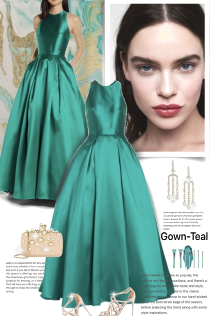 An Elegant Gown  in Teal