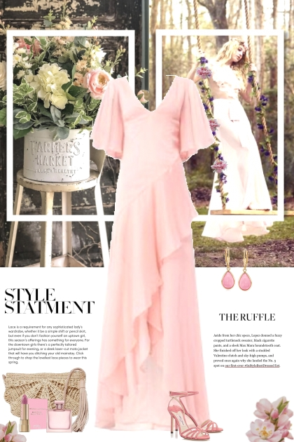Style Statement in Pink Ruffles