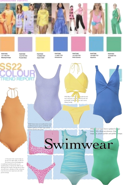 SS22 Colour Trend Report Swimwear