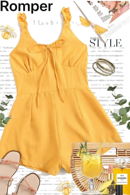 Yellow Romper Style