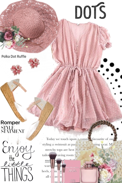 Pink Dot Romper Trend