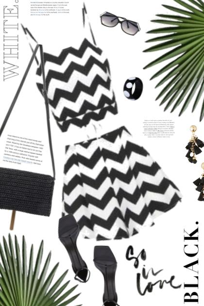 So in Love with Black and White- combinação de moda