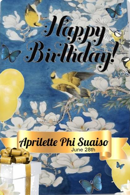 Happy Birthday Aprilette