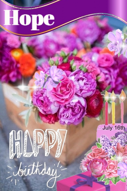 Happy Birthday Hope Marie