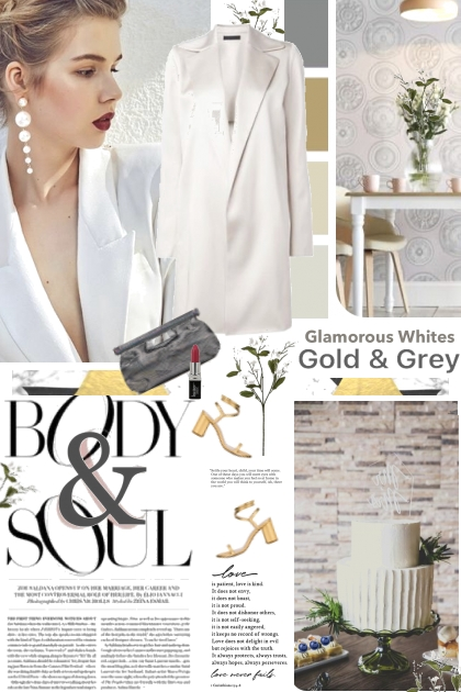 Body and Soul White Gold and Gray