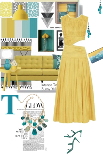 Teal and Sunny Yellow