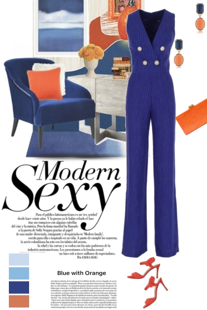Modern Sexy in Blue and Orange