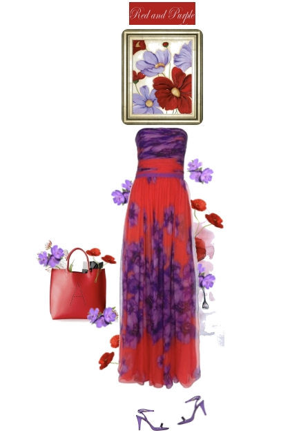 RED AND PURPLE ART