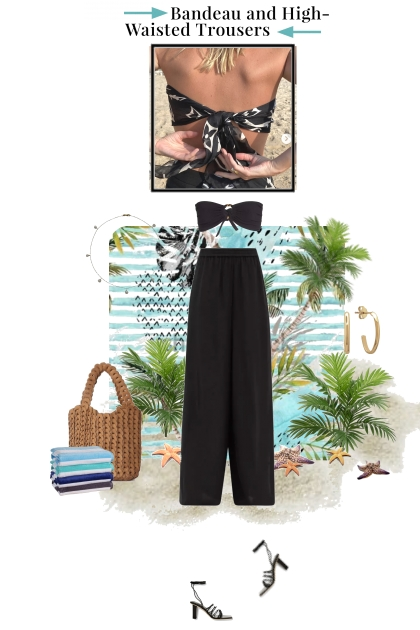 Bandeau and High Waisted Trousers
