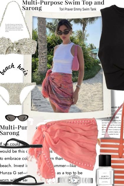 Beach Swim Top and Sarong