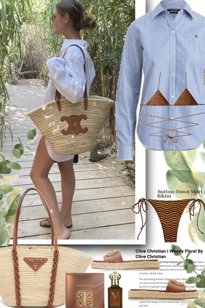 Button Down Shirt and String Bikini
