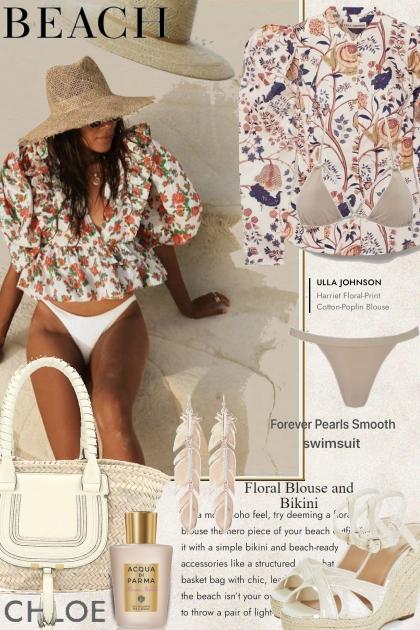 Beach Floral Blouse and Bikini